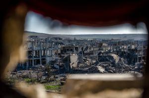 Kobane destruction